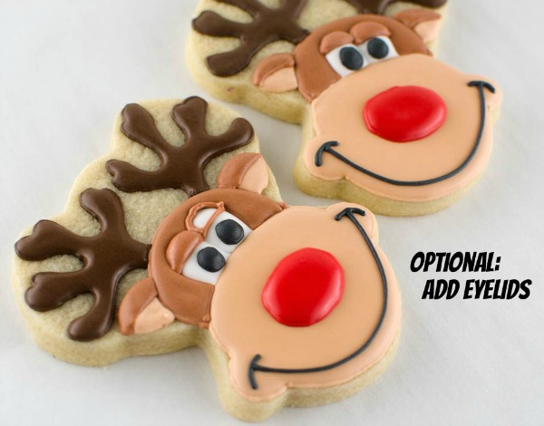 Rudolph The Red Nosed Reindeer Cookies With Semi Sweet Designs