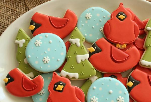 Cardinal Cookie Platter Sweetsugarbelle.com