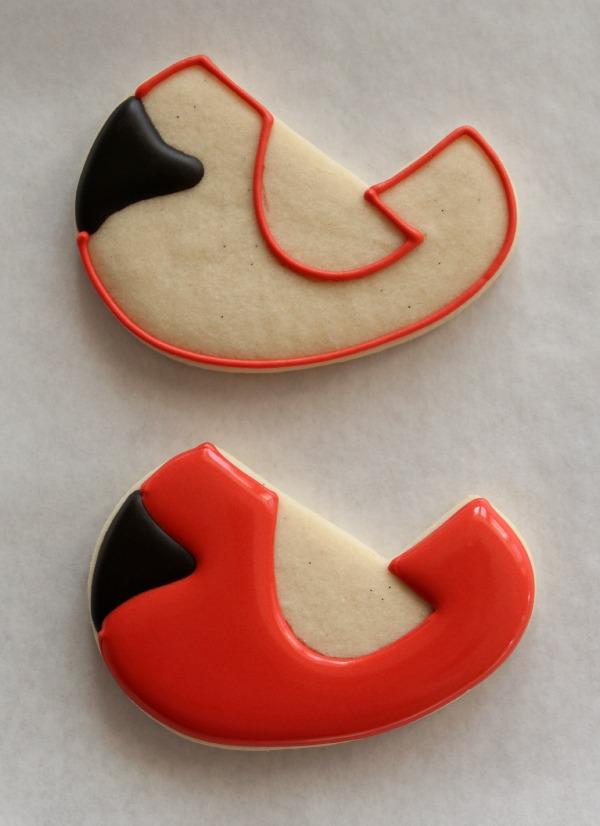 Decorated Cardinal Cookie 3