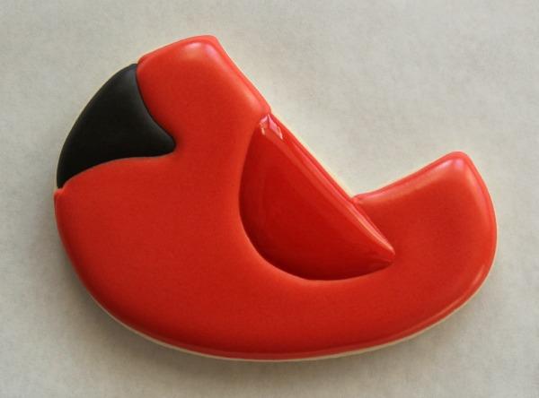 Decorated Cardinal Cookie 4