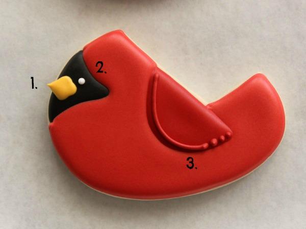 Decorated Cardinal Cookie 5