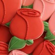 Decorated Rose Bud Cookie