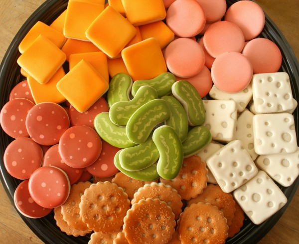 Deli Tray Cookie Platter for Superbowl