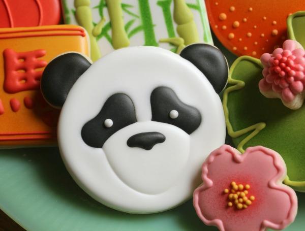 Panda Face Cookie