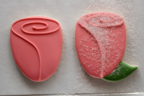Valentine's Rose Cookies