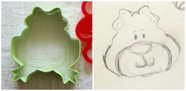 Brown Bear Cookie Sketch