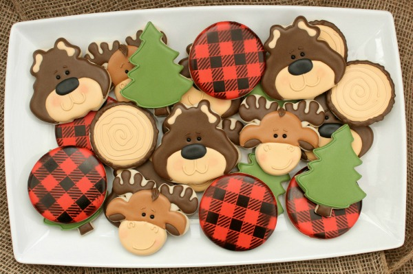 Brown Bear Moose Cookie Platter