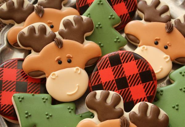 Decorated Moose Cookies The Sweet Adventures Of Sugar Belle