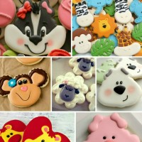 Valentine's Day Cookie Ideas Collage
