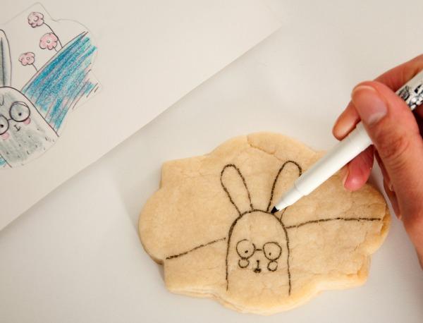 Cartoon Easter Bunny Cookie 2