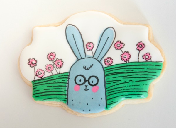 Cartoon Easter Bunny Cookie