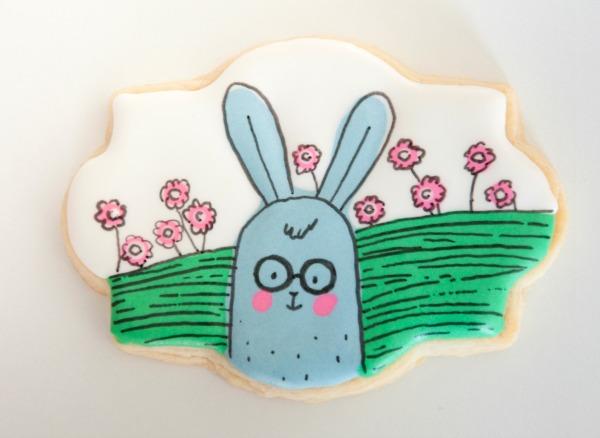 Cartoon Easter Bunny Cookie