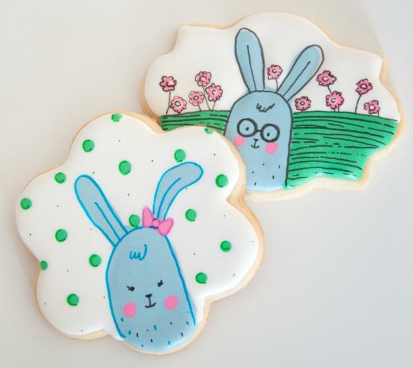 Cartoon Easter Bunny Cookies