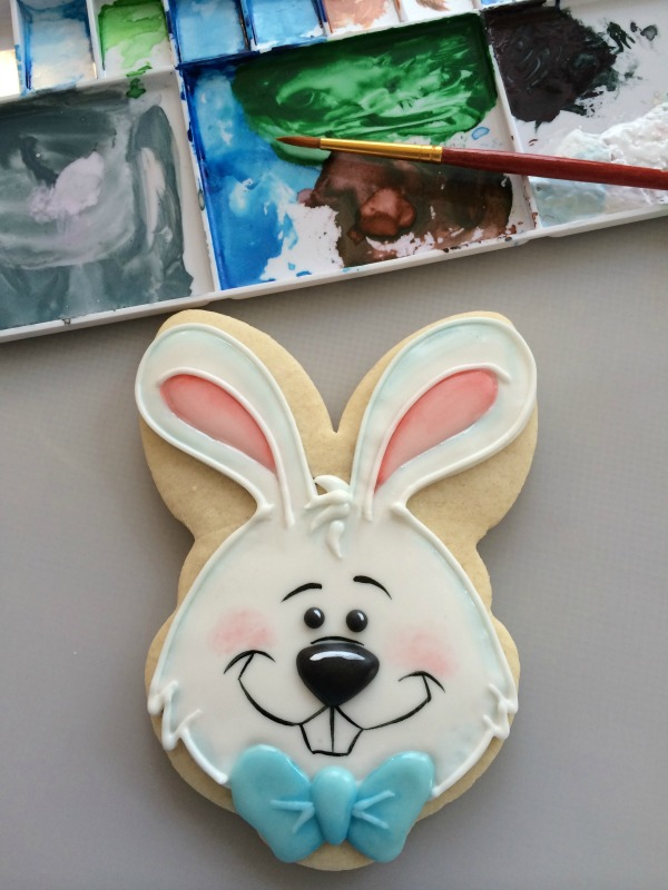 Easter Bunny Cookie with Bowtie