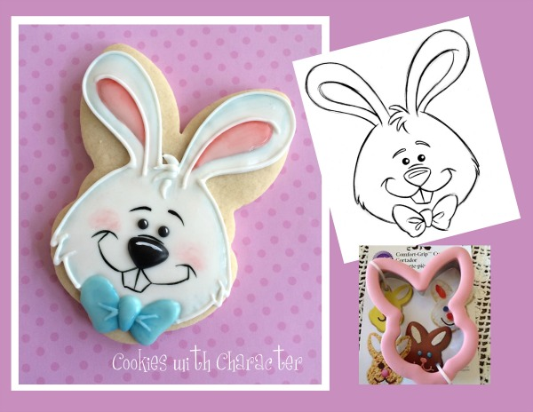 Easter Bunny Cookie with Wilton Cookie Cutter
