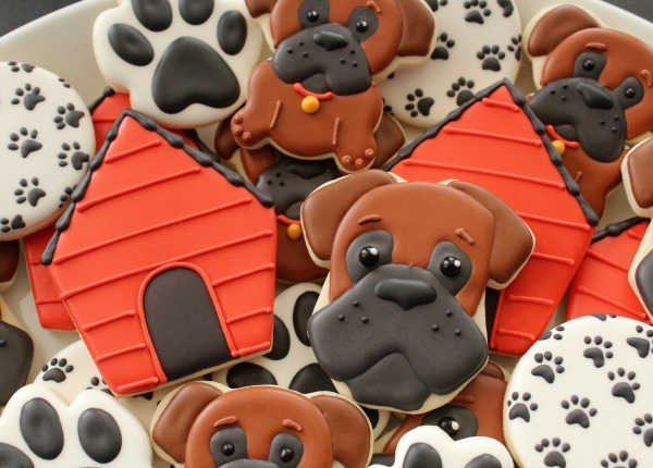 Boxer Dog Cookie Platter 2