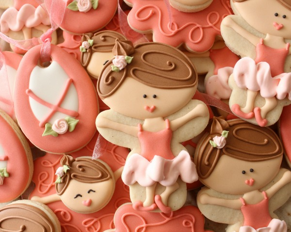 Decorated Ballerina Cookies