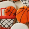 Decorated Basketball Goal Cookie