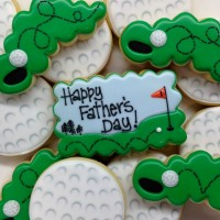Decorated Golfball Cookies