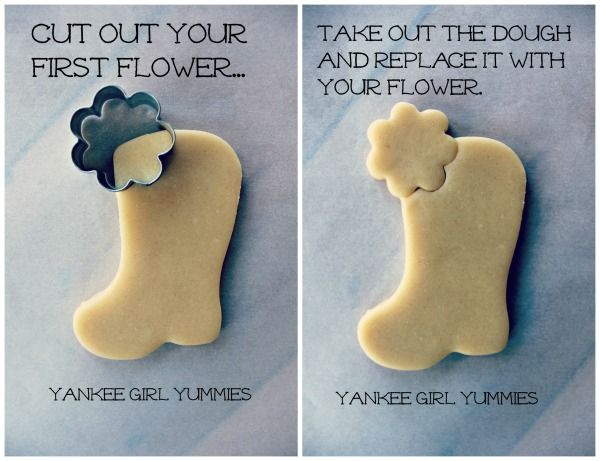 Flower in Boot Cookie 1