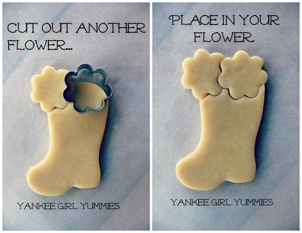 Flower in Boot Cookie 2