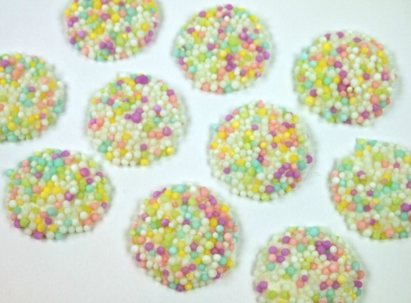 Pre-Made Flower Centers with Sprinkles