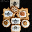 Stamped Bee Cookies