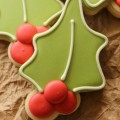 Holly Cookies For Christmas