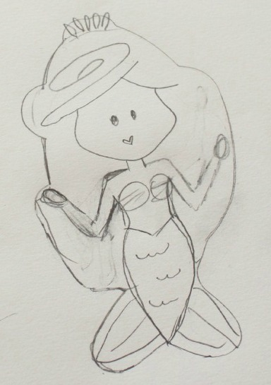 Mermaid Cookie Sketch Sweetsugarbelle