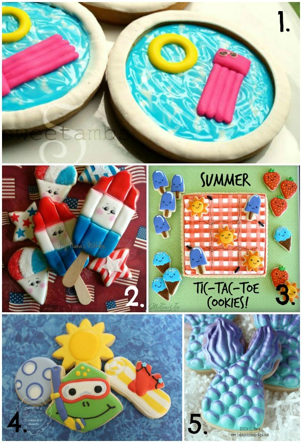 Summer Fun Cookie Collage