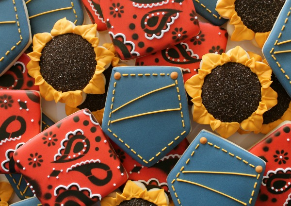 Bandana and Blue Jeans Cookies