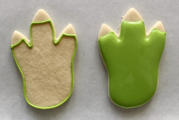 Dinosaur Foot Cookies