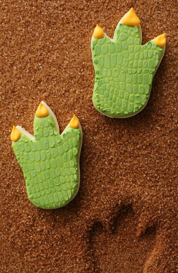 Dinosaur Footprint Cookies