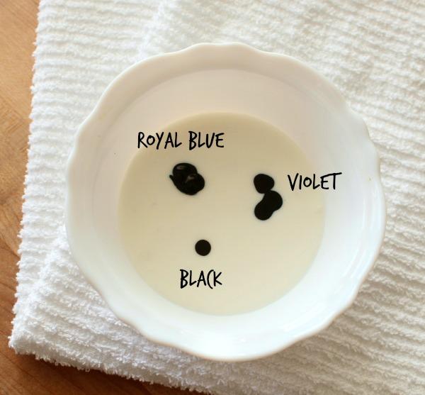 Navy Blue Royal Icing