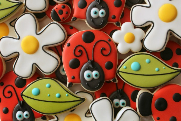Sweetsugarbelle Simple Ladybug Cookie
