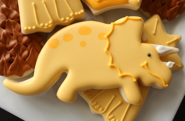 Triceratops Cookie Idea