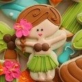 Decorated Hula Girl Cookie