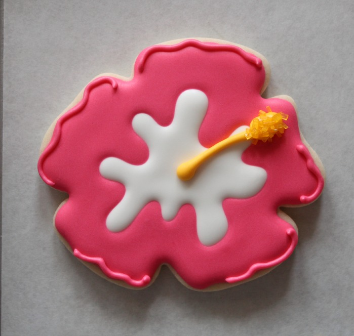 Decorated Hibiscus Cookies The Sweet Adventures Of Sugar Belle