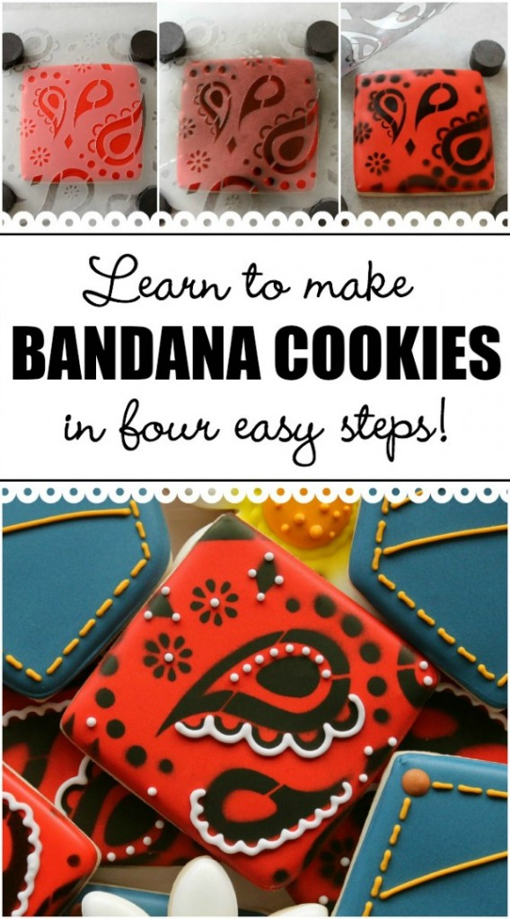 Learn to make bandana print cookies in four easy steps!