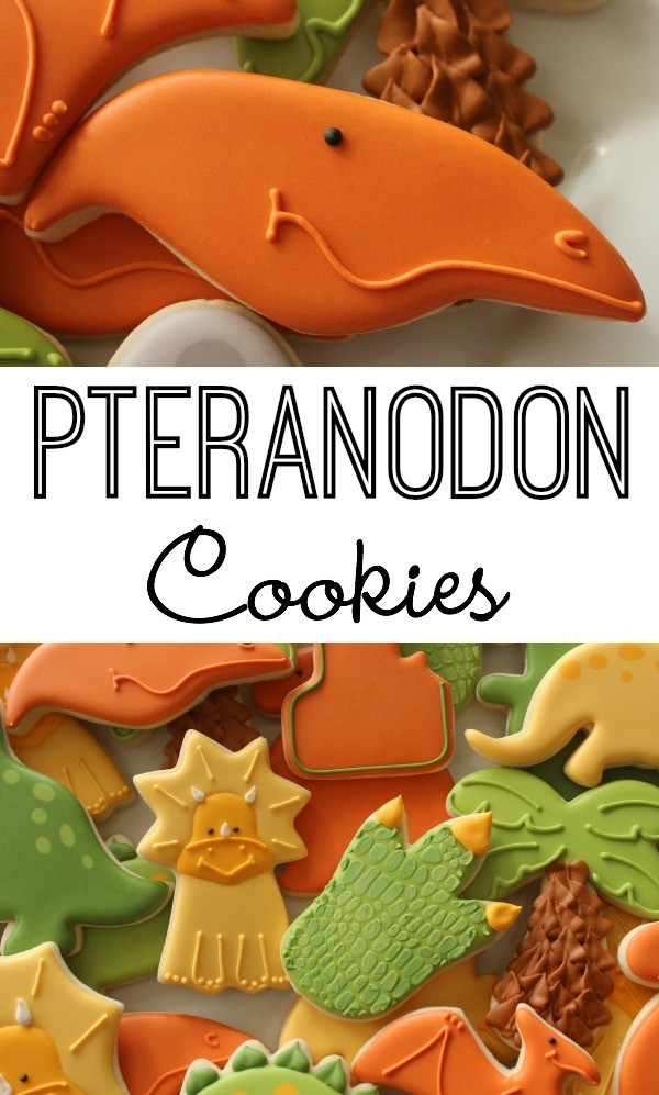 Sweetsugarbelle.comEasy to Decorate Ptereanodon Cookies