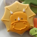 Triceratops Cookie