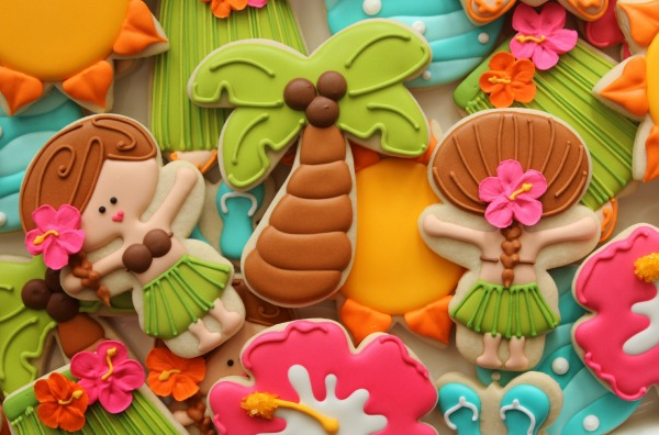 Tropical Luau Cookies