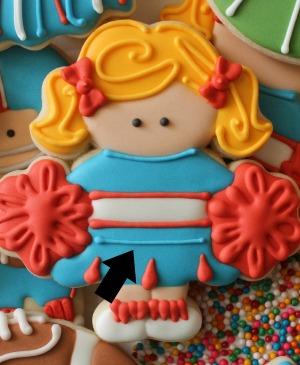 Cheerleader Cookies Close Up