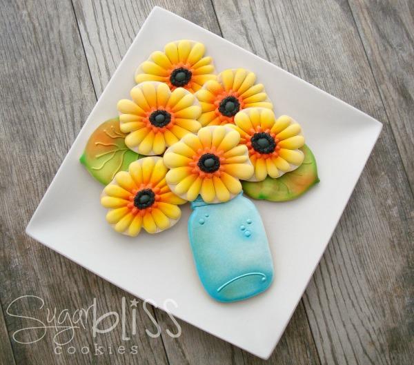 Gerber Daisy Cookies