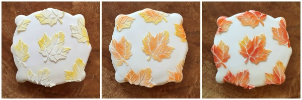 Colorful Autumn Leaf Cookies