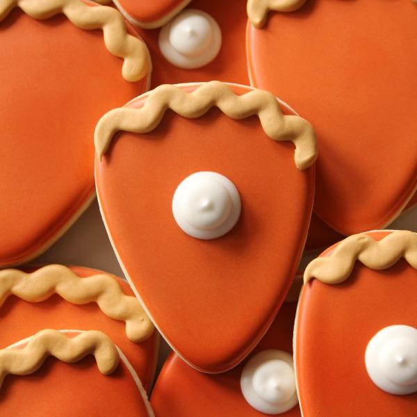 Simple Pie Slice Cookies
