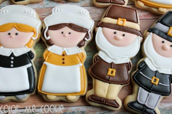 Cute Pilgim Cookies