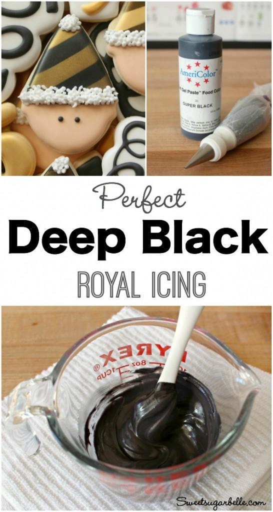 How To Make Dark Black Icing