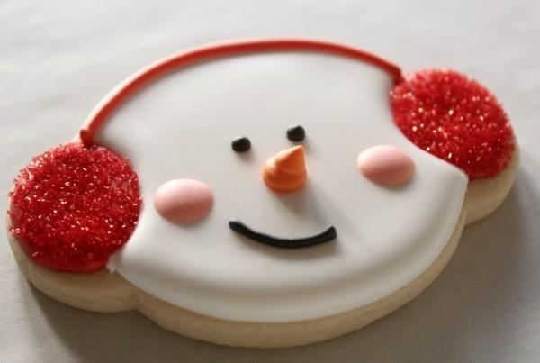 Snowman Cookies with Earmuffs 4