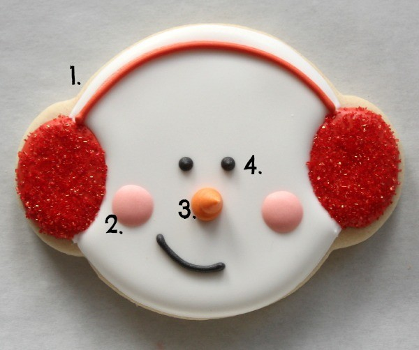 Snowman Cookies with Earmuffs 5